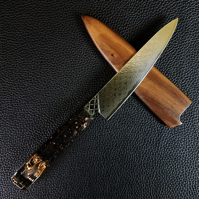 Clever Girl - 6in (150mm) Damascus Petty Culinary Knife