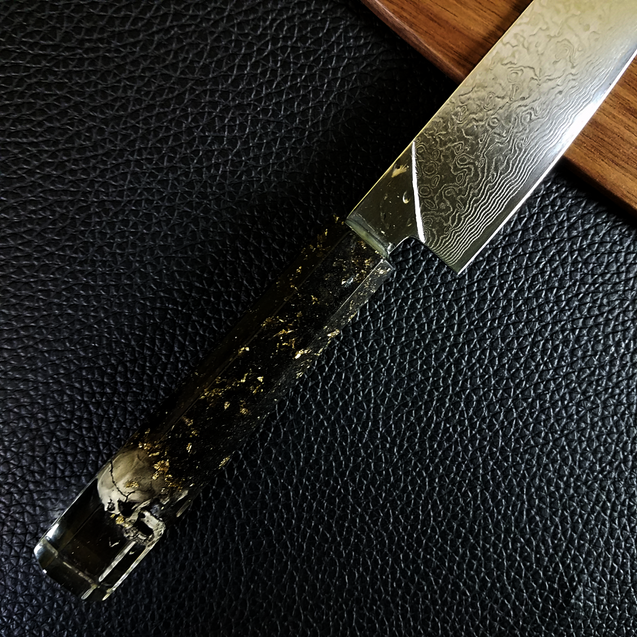 Dead Man's Chest - 6in (150mm) Damascus Petty Culinary Knife