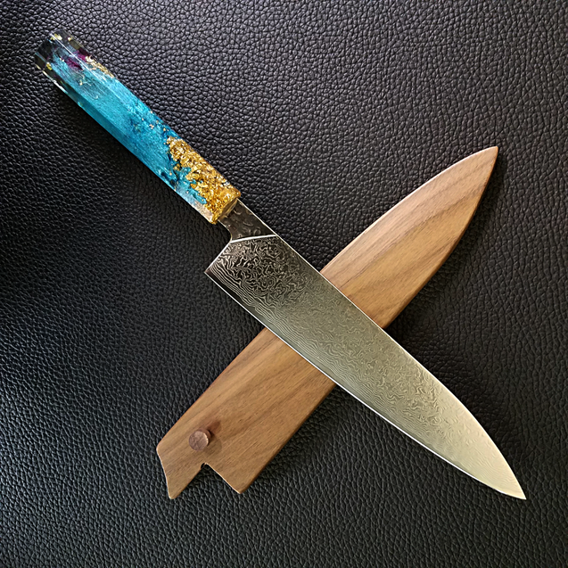 Eau de Rose - 210mm (8.25in) Damascus Gyuto Chef Knife