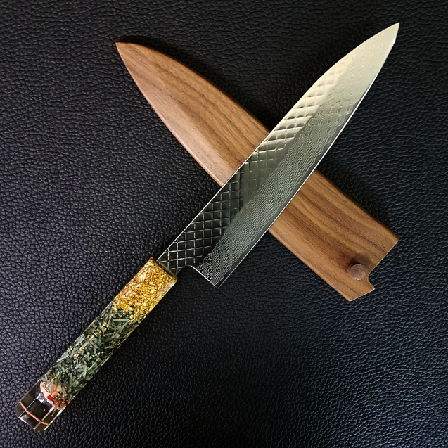 Money Heist - 210mm (8.25in) Damascus Gyuto Chef Knife