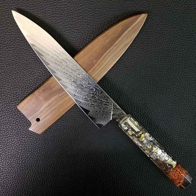 9th Life - 210mm (8.25in) Damascus Gyuto Chef Knife