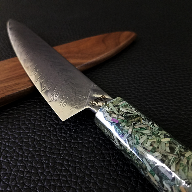 Stimulus Check - 6in (150mm) Damascus Petty Culinary Knife