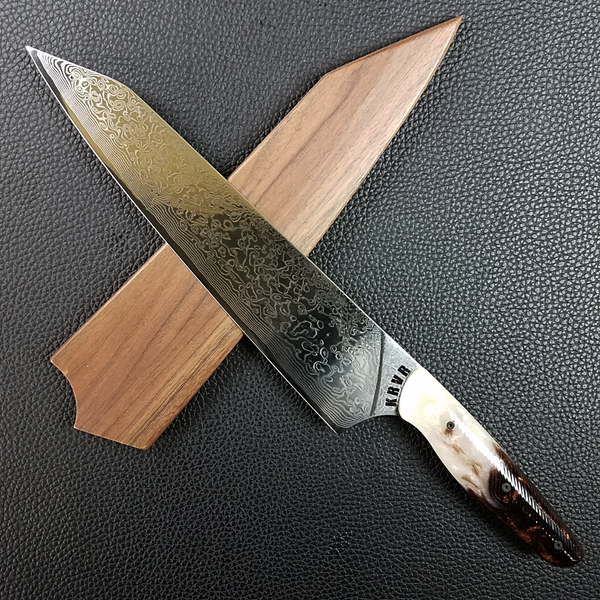 Tiramisu - 10in (254mm) Damascus Gyuto - Raindrop - Wavy Handle