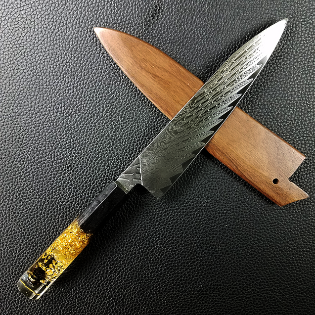 Papa Red - 210mm (8.25in) Damascus Gyuto Chef Knife