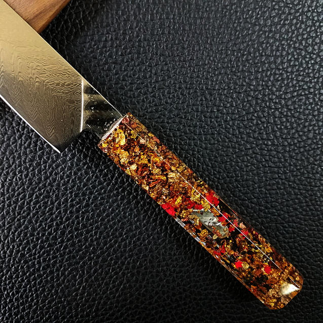 Maple Winds - 6in (150mm) Damascus Petty Culinary Knife