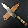 Father Time [Copper] - 210mm (8.25in) Sunray Damascus Gyuto Chef Knife