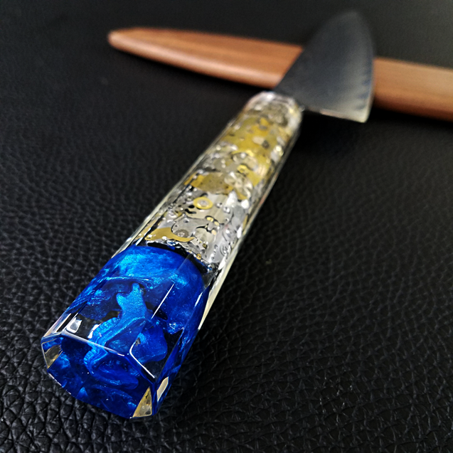 Father Time [Blue] - 210mm (8.25in) Damascus Gyuto Chef Knife