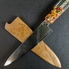 Polychrome Maple - 6in (150mm) Damascus Petty Culinary Knife