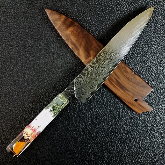 El Chapo Taco - 210mm (8.25in) Damascus Gyuto Chef Knife