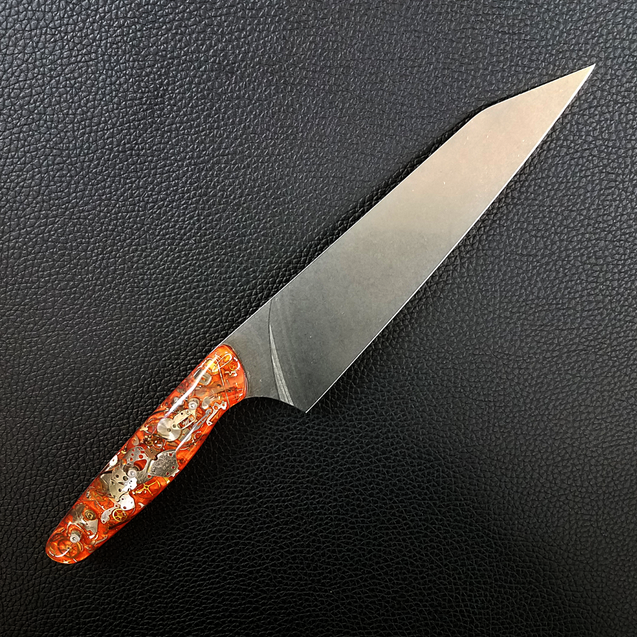A Clockwork Orange - 8in (203mm) Gyuto Chef Knife S35VN Stainless Steel