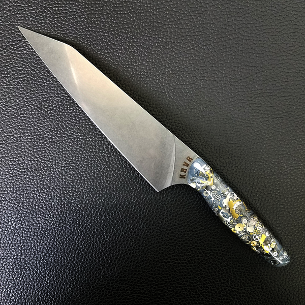 A Clockwork Gray - 8in (203mm) Gyuto Chef Knife S35VN Stainless Steel
