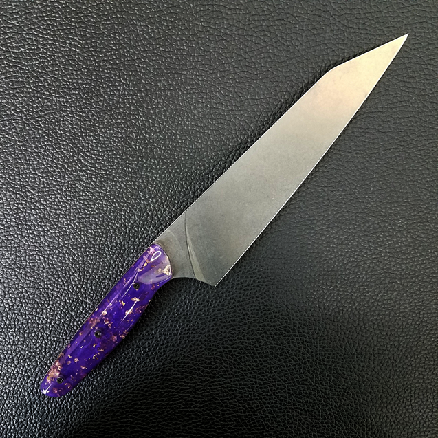 Purple Reign - 8in (203mm) Gyuto Chef Knife S35VN Stainless Steel - Smooth Handle