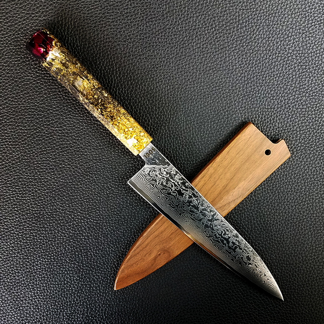 Rose Invictus - 210mm (8.25in) Damascus Gyuto Chef Knife
