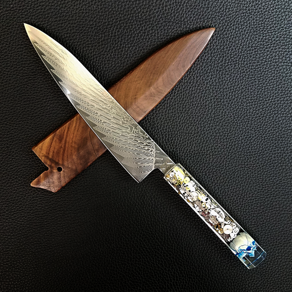 The Watchmaker's Sunray - 210mm (8.25in) Sunray Damascus Gyuto Chef Knife
