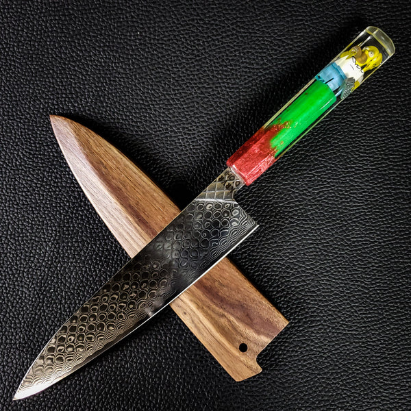 D'ohmascus - 210mm (8.25in) Damascus Gyuto Chef Knife