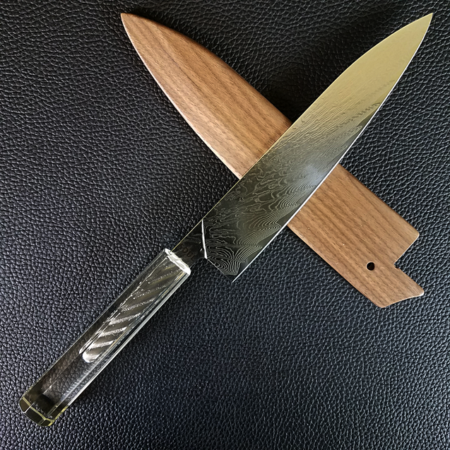 Clarity - 210mm (8.25in) Damascus Gyuto Chef Knife