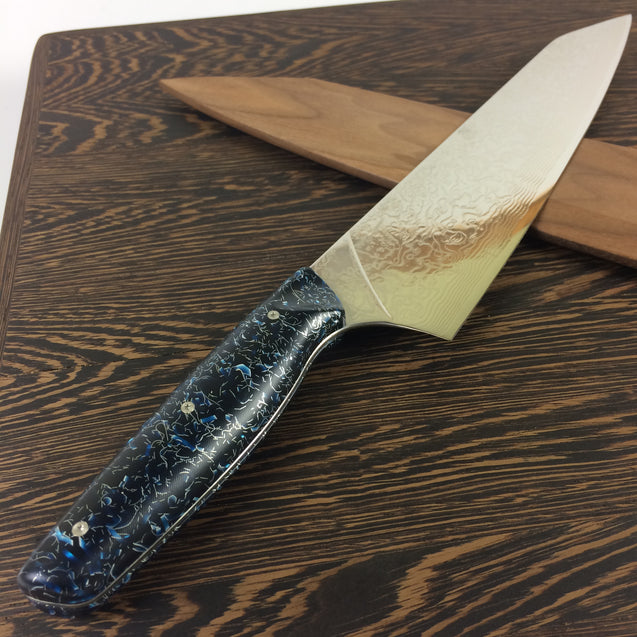 "Sparklehorse - 10"" Damascus - Gyuto - Color-Change Handle"