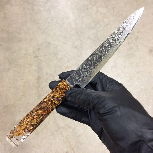 "Maple Sugar - 6"" (150mm) Petty - Damascus Steel"