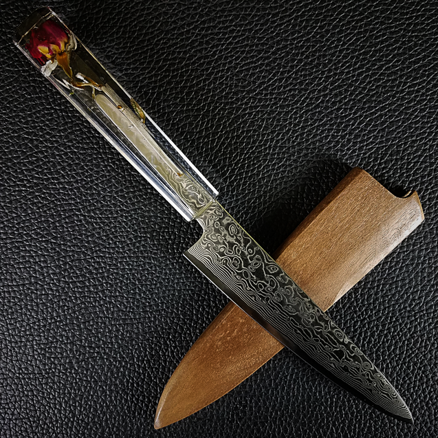 Valentine - 6in (150mm) Damascus Petty Culinary Knife