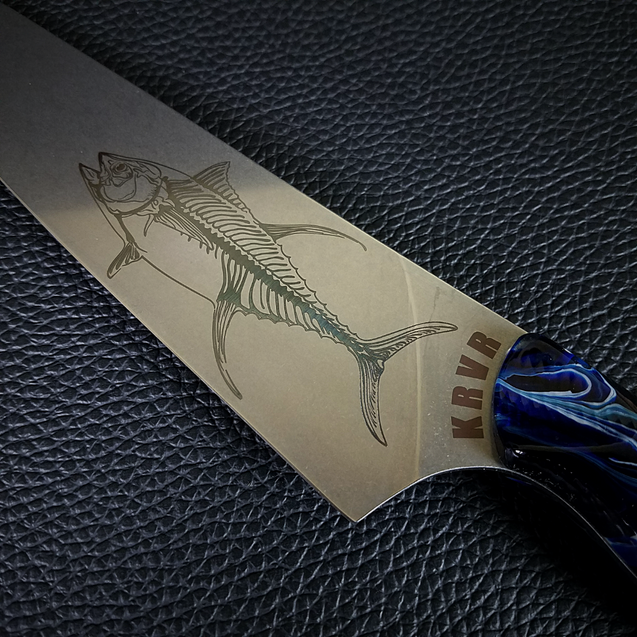 Ocean Master IV: Storm Surge - 8in (203mm) Gyuto Chef Knife S35VN Stainless Steel