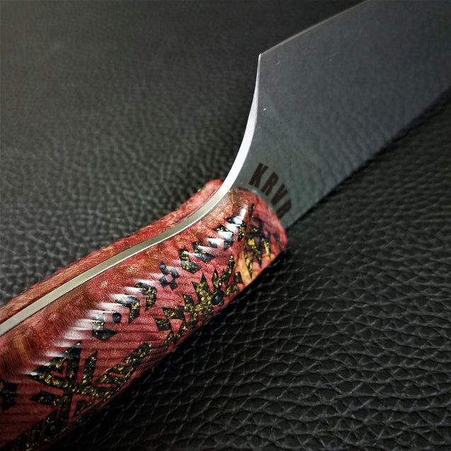 Southwestern Soul - 8in (203mm) Gyuto Chef Knife S35VN Stainless Steel - Wavy Handle