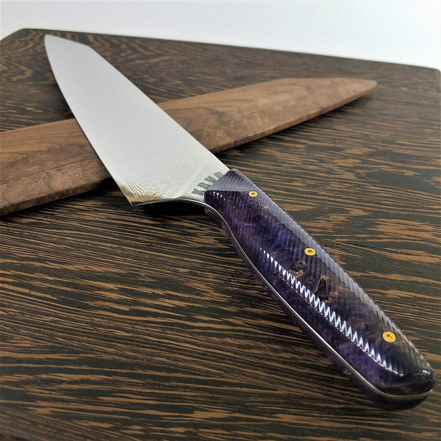Primrose - 10in (254mm) Damascus Gyuto - Raindrop - Wavy Handle