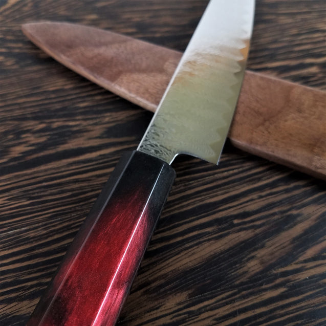 Blood Drive - 6in (150mm) Damascus Petty Culinary Knife