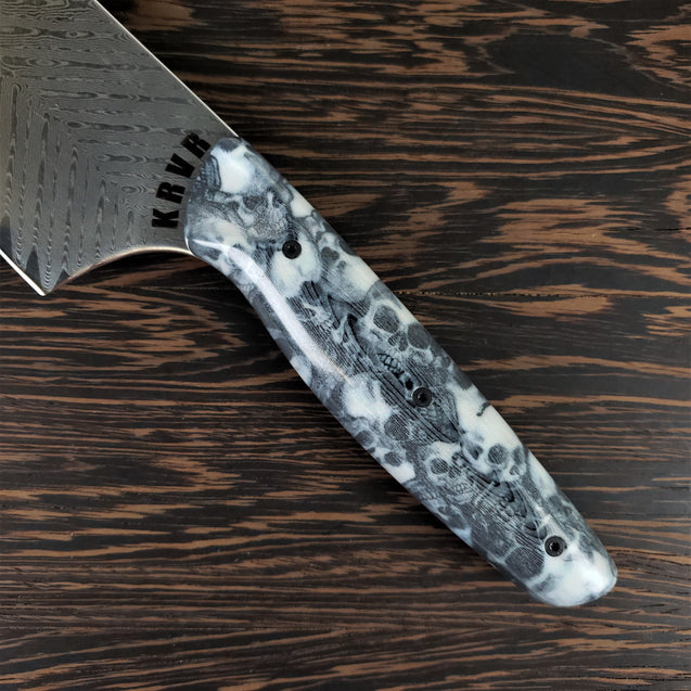 Mosh Pit - 10in (254mm) Damascus Gyuto - Sawtooth - Smooth Handle