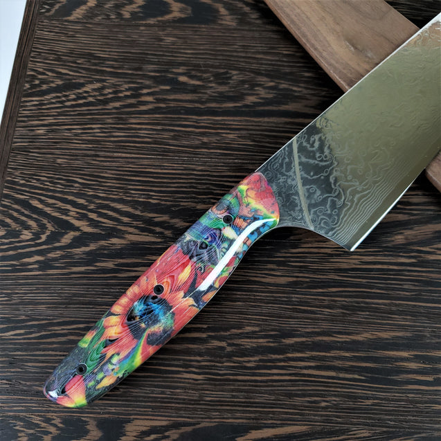 Edge of Glory - 10in (254mm) Damascus Gyuto - Raindrop - Smooth Handle