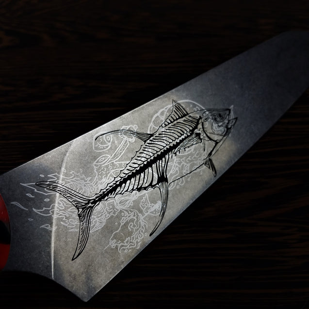 Surf N Turf - 8in (203mm) Gyuto Chef Knife S35VN Stainless Steel