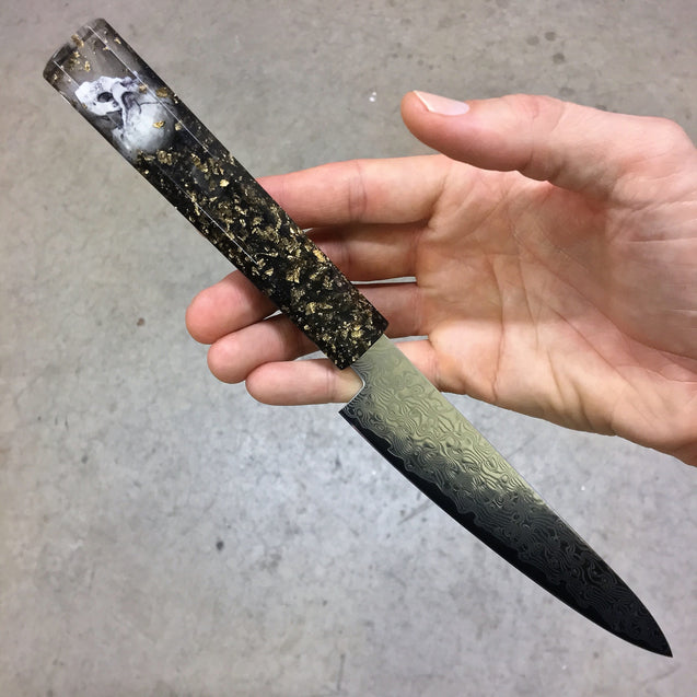 Dead Man's Chest - 6in Damascus Petty Culinary Knife