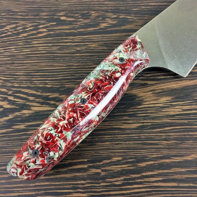 "Blood Money - 8"" Gyuto Chef Knife S35VN Stainless Steel"