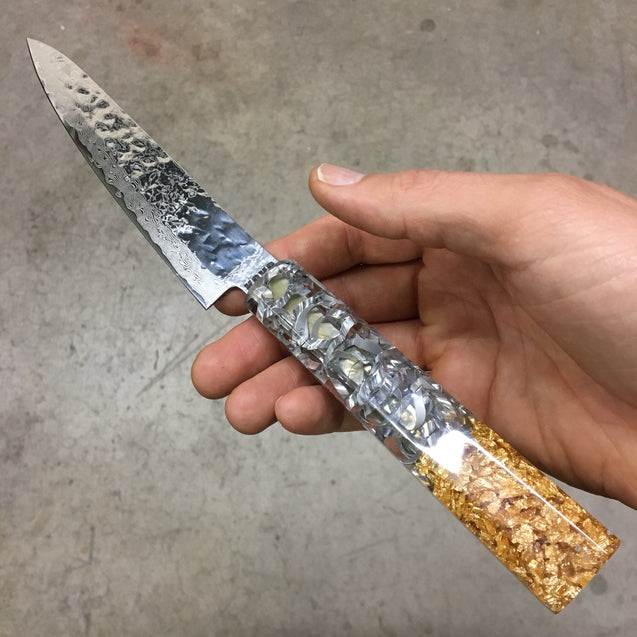 The Alchemist - 6in (150mm) Damascus Petty Culinary Knife