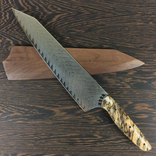 Hackleberry Finn - Gyuto K-tip 10in Chef's Knife - Fishbone Damascus