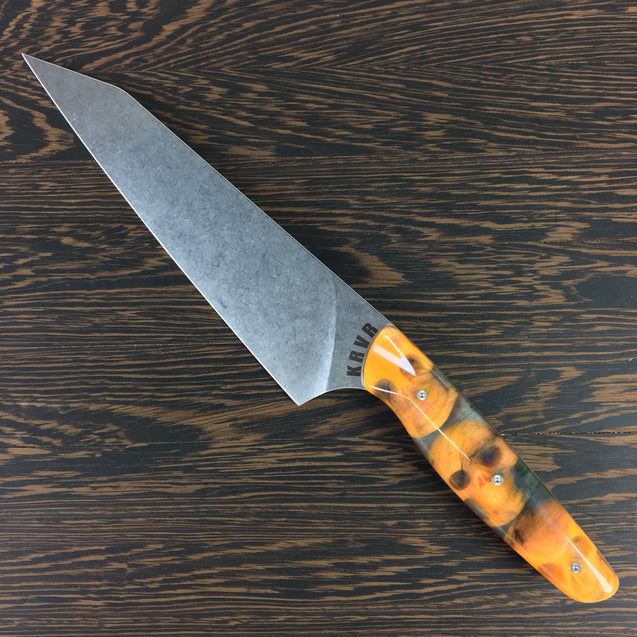 KRVR Gyuto K-tip 8in Chef's Knife - S35VN Stainless - BLADE ONLY