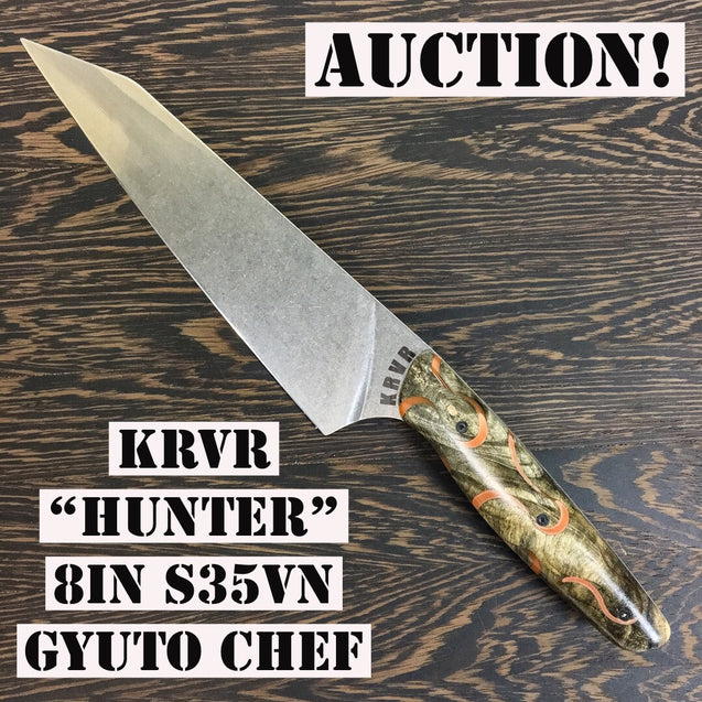 "Hunter - 8"" Gyuto Chef Knife - S35VN Stainless Steel"