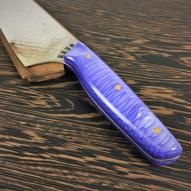 Purple Dragon's Belly - Dragonscale Damascus - Smooth Dragonscale Handle