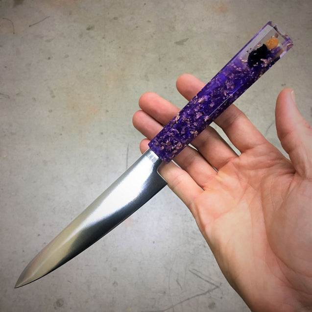 Custom Order - Purple Burger Eater - 6in Petty Culinary Knife