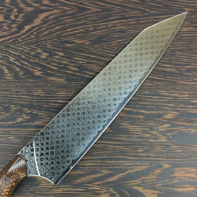 Bronze Dragon - Gyuto K-tip 10in Chef's Knife - Dragonscale Damascus - SOLD