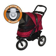 Jogger No Zip Pet Stoller in Red