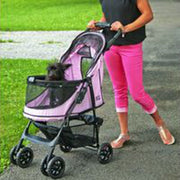 Happy Trails No-Zip Pet Stroller in Pink | Pawlicious & Company