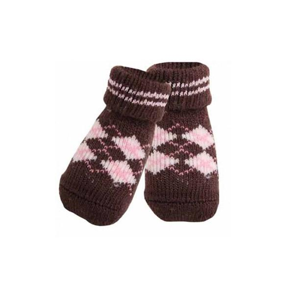Argyle Brown Dog Socks | Pawlicious & Company