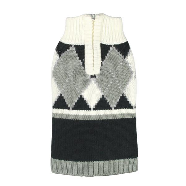 Argyle Dog Sweater in Gray | Pawlicious & Company