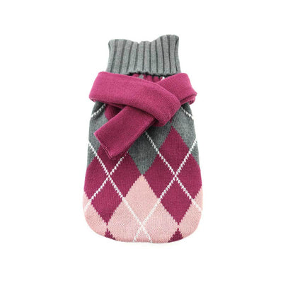 Argyle Purple Dog Sweater with Scarf | Pawlicious & Company