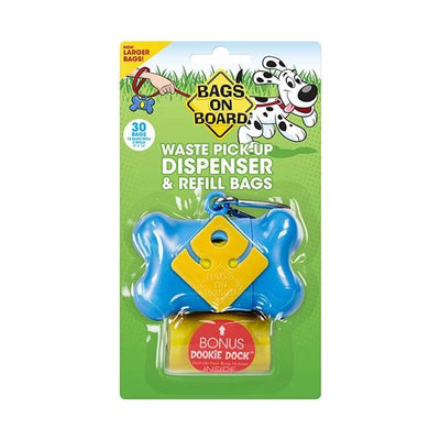 Bags on Board Bag Dispenser in Blue 30 Count | Pawlicious & Company