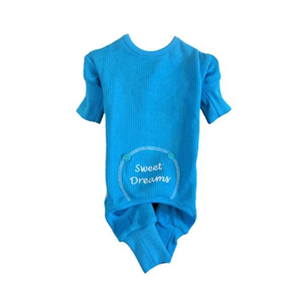 "Blue ""Sweet Dreams"" Embroidered Pajama 
