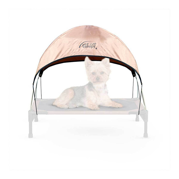 Brown Dog Cot Canopy for Small Cots | Pawlicious & Company