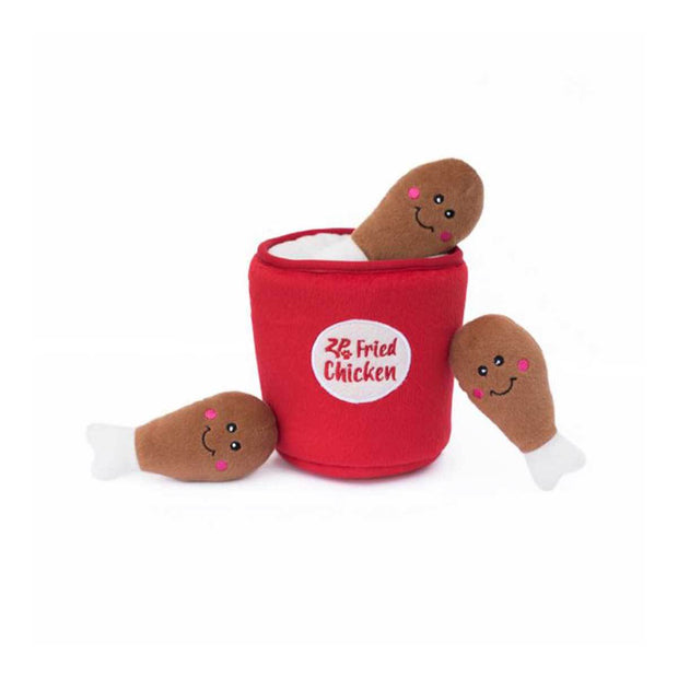 Bucket of Chicken Burrow Dog Toy | Pawlicious & Company