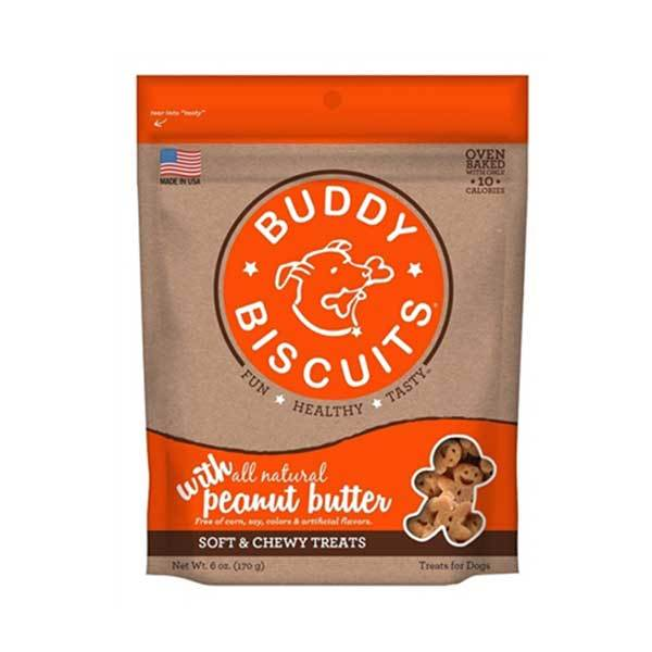 Buddy Biscuits Soft & Chewy Treats - Peanut Butter | Pawlicious & Company