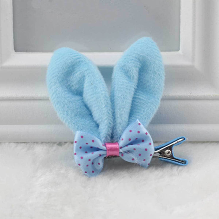 Bunny Ear Clip-On in Blue | Pawlicious & Company